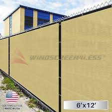 6 X12 Beige Tan Fence Windscreen Privacy Screen Mesh Fabric Cover Shade Cloth Fence Screening Privacy Fence Screen Fence