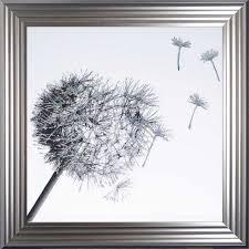dandelion sparkle framed wall art with