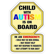Autism Bumper Stickers Autistic Child On Board Vinyl Decal Free Awareness Nonverbal Sticker Car Auti Toqueglamour