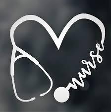 Amazon Com Custom Nurse Stethoscope Vinyl Decal Nursing Bumper Sticker For Tumblers Laptops Car Windows Heartbeat Ekg Ecg Medical Design Handmade