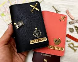 personalized leather passport