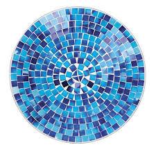 mosaic tile glass bird bath assorted