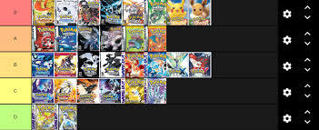 Here's my tier list of all Pokémon games : MandJTV