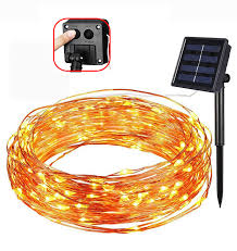 20m 200led solar powered copper wire