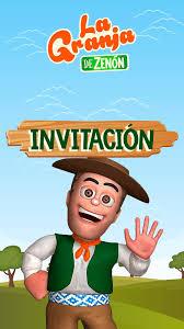 Tarjeta De Invitacion Animada De La Granja De Zenon La Granja De