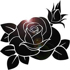 Amazon Com Wall Stickers Vinyl Decal Black Rose Flower Decor For Bedroom Ig174 Home Kitchen