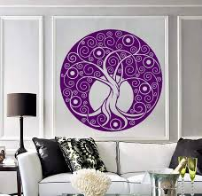 Vinyl Wall Decal Celtic Tree Of Life Nature Circle Room Art Decor Stic Wallstickers4you