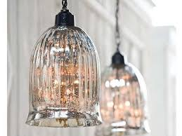 mercury glass pendant lights over