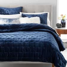navy blue velvet bedspread the linen