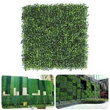 Hyhelen 50x50cm Artificial Milan Leaf Grass Fence Lawn Fake Wall Plate Decoration Shopee Philippines