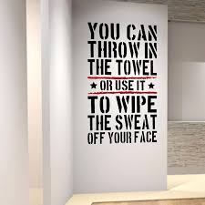 Throw In The Towl Home Gym Motivational Wall Decal Quote Fitness Strength Workout Wall Stickers Wall Art For Kids Rooms Wall Decals Quotes Wall Stickerwall Decals Aliexpress