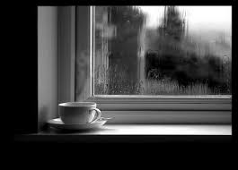 hujan dan kopi kertas warna