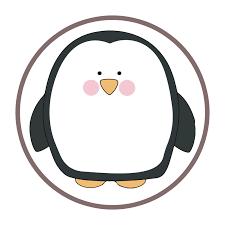 Cute Penguin Character Sticker 5
