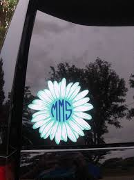 Monogram Daisy Car Decal Colorful Backgrounds Types Of Painting Daisy