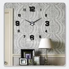 mirror wall clock diy decorative