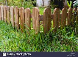 Small Wooden Fence In A Garden Stock Photo Alamy