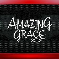 Amazing Grace Fish Christian Car Decal Truck Window Vinyl Sticker 20 Colors Ebay