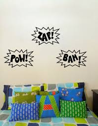 Wall Art Decal Pow Zap Bam Superhero Or By Thecraftygeeks On Etsy 30 00 I Could Make These Super Easily With Wall Vinyl Decor Decal Wall Art Vinyl Wall