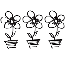 Flower Pot Doodle Wall Sticker Decal World Of Wall Stickers