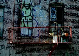 Giant Wall Decal Mural Manhattan Patio Fire Escape Graffiti Etsy