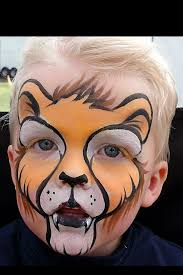 lion face paintings