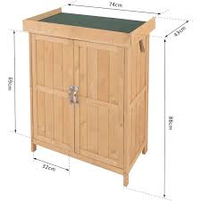 outsunny outdoor garden storage shed