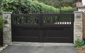 Simple Design High Quality Modern Iron Driveway Gate China Steel Fence Custom Fence Made In China Com