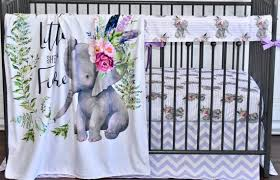 baby bedding set elephant crib bedding