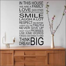 Family Rules Wall Decal Quote Living Room Bedroom Home Decor Vinyl Sticker Mural In This House Wall Sticker Large Wallpaper G136 Wall Stickers Aliexpress