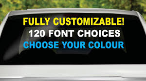 Custom Windshield Decal Car Truck Window Custom Windshield Etsy