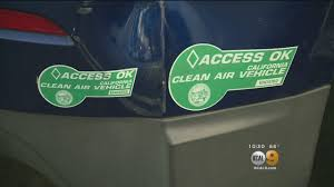 With Clean Air Stickers Expiring In 2019 Nearly 250k Drivers Getting Kicked Out Of Carpool Lanes Youtube