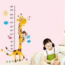 Cute Animals Monkey Giraffe Height Measure Wall Stickers Decal Kids Room Sale Price Reviews Gearbest
