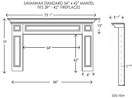 the6a97 fireplace mantel standard sizes