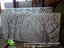 Tree Aluminum Laser Cut Screen Panel Sheet For Fence Decoration Perforated Screen Panel