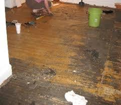 remove adhesive from hardwood floors