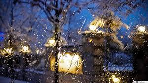 قطرات المطر في نافذة تنزيل خلفية Hd
