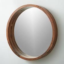 acacia wood 24 wall mirror reviews cb2