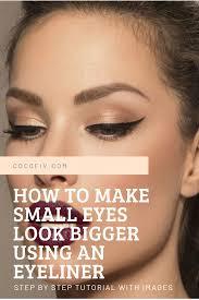 eyes look bigger using an eyeliner