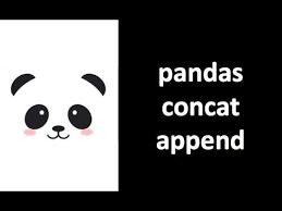 concatenate merge two dataframe