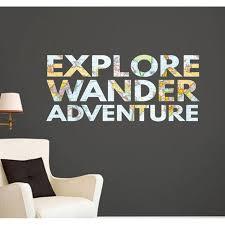 Ebern Designs Explore Wander Adventure Wall Decal Wayfair