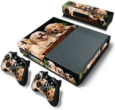 Amazon Com Vinyl Skin Sticker For Xbox One Console And 2 Controllers Full Cover Wrap Decal Puppy Computers Accessories