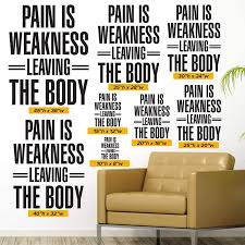 Amazon Com Pain Is Weakness Leaving The Body 0397 Home Decor Wall Decor Crossfit Gym Workout Wod Exercise Fitness Handmade
