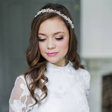 bridal wedding hair and wedding makeup