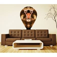 Shop Cobra Snake Polygonal Wall Decal Overstock 32246139