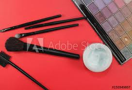 make up table in beauty salon set of