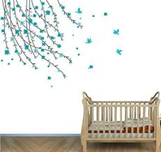 Amazon Com Teal Wall Decor Tree Branch Decals Kids Room Decals Baby