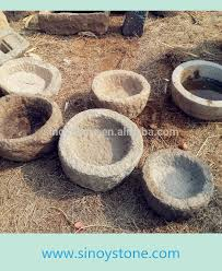 round shape antique garden old stone