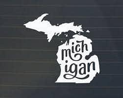 Michigan Car Decal Michigan Decal Michigan Sticker Michigan Decal Michigan Sticker Car Decals