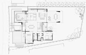 first floor plan of modern house with
