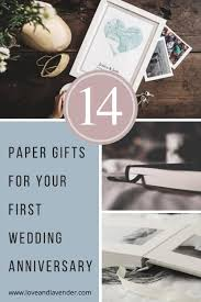 gifts for your first wedding anniversary